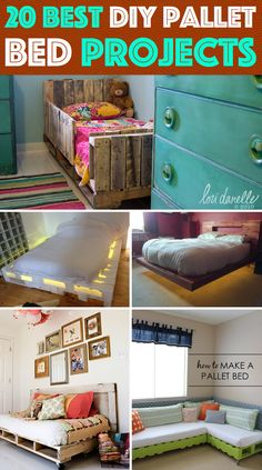 20 Best DIY Pallet Bed Projects Pretty Enough to Take Your Breath Away #diy #pallet #bed