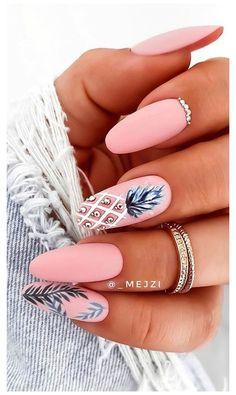 Chic Nails, Stylish Nails, Swag Nails, Elegant Nails, Trendy Nails, Pineapple Nails, Pineapple Nail Design, Nagellack Design, Best Acrylic Nails