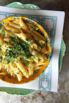 One Pot Creamy Pumpkin Pasta (Vegan and GF)