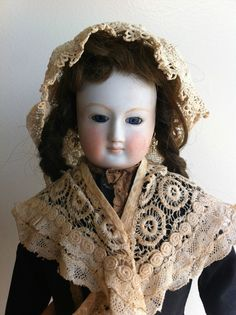 RARE Antique French or German Fashion Lady Doll Poupee w RARE Pale Bisque   eBay