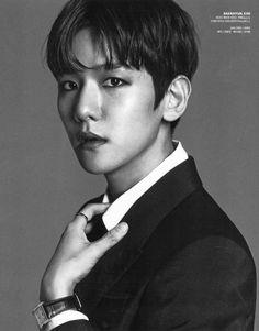 Baekhyun - 161121 Vogue magazine, December 2016 issue - Credit: 란초.