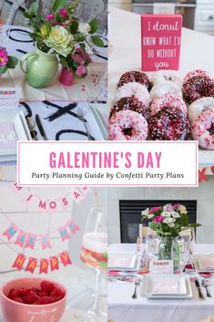 Complete Galentines Day Brunch Party Planning Guide and Checklist.  Everything you need to host a beautiful Galentines Day Brunch with your best girlfriends.  I've found the cutest decor, tastiest menu plans, and fun activities at the best price, so you don't have to spend house planning a party.  It's already done for you!  Best part?  Everything has direct links to purchase whatever you need.  Party planning has never been easier!