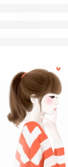 Uploaded by ✩ KIM DAE RI ✩. Find images and videos about girl, love and cute on We Heart It - the app to get lost in what you love. Korean Anime, Korean Art, Anime Korea, Lovely Girl Image, Girls Image, Cute Cartoon Girl, Cute Girl Wallpaper, Beautiful Fantasy Art, Girly Pictures