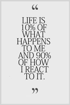 Act, don't react!
