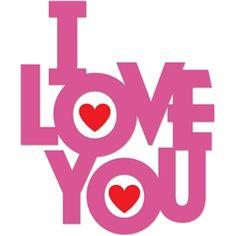 Silhouette Design Store - View Design #24832: i love you