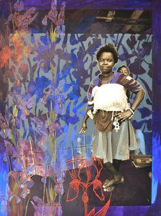 Zwelethu Mthethwa & Louis Jansen van Vuuren  Iris 2013 Mixed media on cotton paper 70 x 93.5 cm