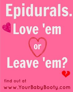 Should I Get an Epidural? Learn what an Ob/Gyn wants you to know about epidurals. Click here>>http://yourbabybooty.com/interviews/the-inside-scoop-on-epidurals-dr-tami-michele-interview/#