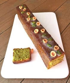J'en reste baba: Cake pistaches et noisettes de Christophe Felder