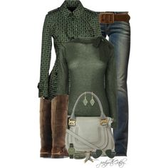 Evergreen by partywithgatsby on Polyvore featuring Boutique by Jaeger, Allegri Milano, Replay, Golden Goose, Chloé, Void, Chan Luu, Cathy Waterman, Forever 21 and Ray-Ban