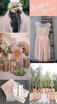 Pink Wedding Inspiration Board - Ruffled Romance by Beacon Lane