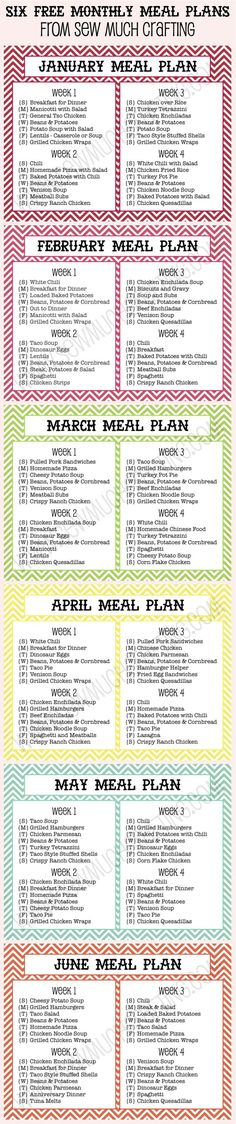 95 best meal planning for families images on pinterest cooking
