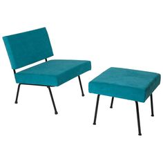 Low Chair and Ottoman by Knoll, Florence, 1954-1968   From a unique collection of antique and modern chairs at http://www.1stdibs.com/furniture/seating/chairs/