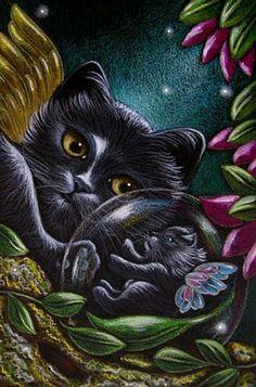 """Black Fairy Kittens"" par Cyra R. Cancel"