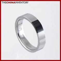 4MM SIZE 6 TUNGSTEN CARBIDE CERAMIC BAND RING R1003A