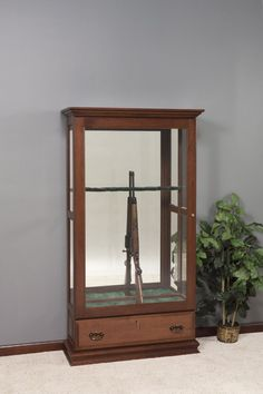 Amish Mt. Eaton Sliding Door Gun Cabinet