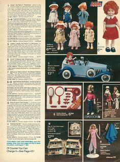 1982  JCPenney Christmas Catalog    I can remember looking at this very page when I was little...still kind of makes me excited!  I loved Annie!