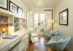 Pinterest Fuel: Martha O'Hara Interiors   Love this area for study or if you have two girls so they both have their own make-up table/desk if there's the room :)