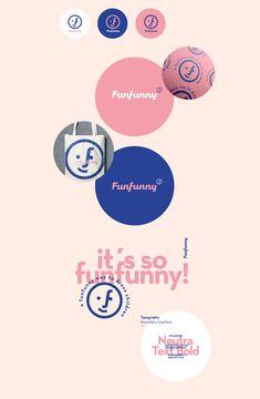 Funfunny is a cute and gender-neutral children´s fashion brand. Brand Identity Design, Branding Design, Logo Design, Kids Branding, Logo Branding, Logos, Marca Personal, Grafik Design, Brand Packaging