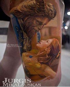 51 Beauty and the Beast Tattoos > CherryCherryBeauty.com