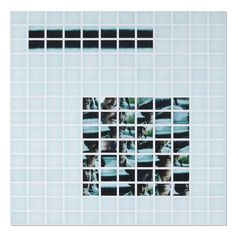 """John Messinger, """"How We Learn of Loss (Uncle Ludwig 1949-1995),"""" 2014, 180 sheets of instant film, 60 1/4 in. × 60 1/2 in."""
