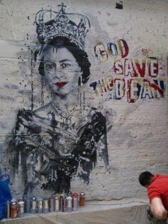 God Save the Bean Coffee shop - #graffiti