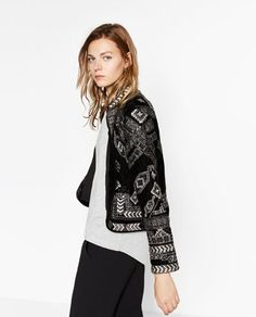 Image 6 of JACKET WITH METALLIC EMBROIDERY from Zara