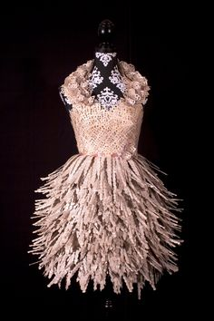 Carrie Ann Schumacher's dress made out of books! Pinned from Oxfam fashion blog.