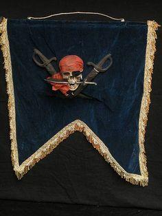 piraten vaandel fluweel  - Piraten decor - Rekwisieten
