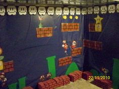 Mario Bros Themes Party Party Themes, Theme Ideas, Party Ideas, Office Halloween Costumes, Sunday School Projects, N Game, Mario Party, Office Parties, Party Planning