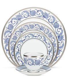 Noritake Dinnerware, Sonnet in Blue 5 Piece Place Setting - Fine China - Dining & Entertaining - Macy's