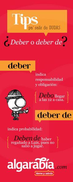 ¿Deber o deber de?  Tip de lengua #español