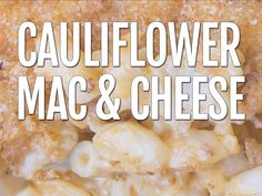 Skinny Cauliflower Mac And Cheese Recipe - Skinny Cauliflower Mac And Cheese Recipe Cheese Recipes, Veg Recipes, Skinny Recipes, Lunch Recipes, Pasta Recipes, Healthy Recipes, Califlower Mac And Cheese, Keto Mac And Cheese, Chocolate Banana Bread