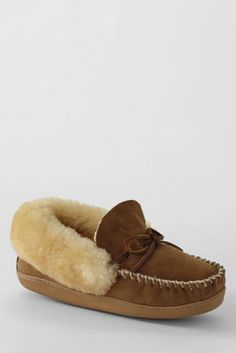 Cheap Prices Perfect For Sale Womens Shearling Moccasin Slippers - 6 - BLUE Lands End Limit Discount Sale Pay With Paypal N26BLW