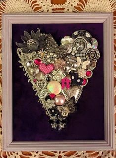 20 Ideas for diy jewelry vintage craft ideas Jewelry Frames, Jewelry Wall, Jewelry Tree, Jewelry Ideas, Jewlery, Heart Jewelry, Jewelry Shop, Diy Jewelry, Gemstone Jewelry