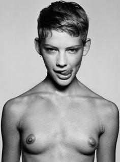 #blackandwhite #shorthair #woman #nude #photography #tomboy