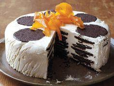 Icebox Cake With Orange-Caramel Cream Recipe : Food Network Kitchen : Food Network Fall Desserts, Frozen Desserts, Just Desserts, Dessert Recipes, Cake Recipes, Frozen Treats, Dessert Food, Pizza Recipes, Delicious Desserts