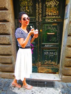 Gelato+Rome+Summer Outfit =New blog post!! Click to see the details!