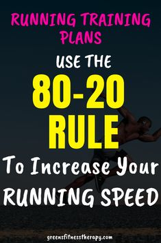 Running Training Plans, Use The Rule to Increase Your Speed - How to improve what you are focusing on running to improve quicker. Change your training plan and s - Lose Weight Running, Running Plan, Get Running, How To Start Running, Running Tips, How To Run Faster, Running Humor, Running Training Programs, Race Training