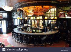 Art Nouveau bar at The Warrington Pub, Maida Vale, London, England Stock Photo