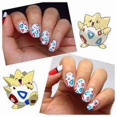 Bestie Twin Nails with Rei! (Togepi!)