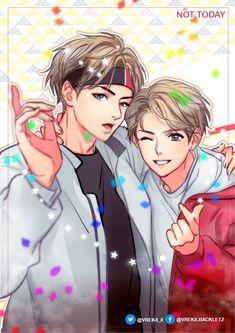 Vkook - my strongest ship ❤️ Taekook, Got7 Bambam, Bts Chibi, Boy Scouts, K Pop, Shinee, Taehyung, Vkook Fanart, Bts Drawings