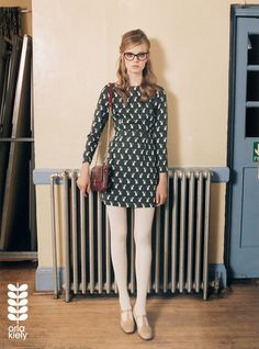 The Clothes Horse, Orla Kiely, vintage inspired, fashion photography, glasses, fox print dress