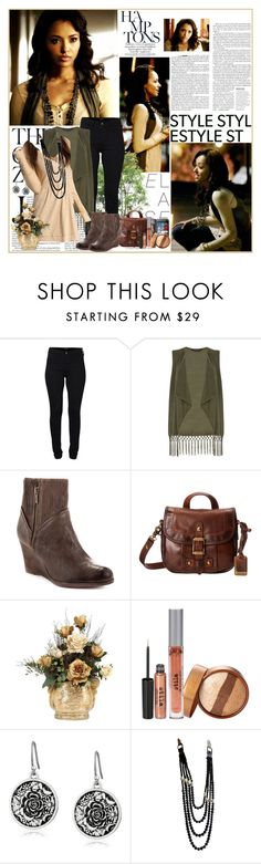 """""""Bonnie Bennett - Season 2"""" by noseinanovel ❤ liked on Polyvore featuring Haider Ackermann, Gibson, French Connection, Dorothy Perkins, Frye, Stila, Lucky Brand and Chanel"""