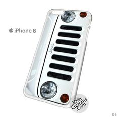 White Jeep Wrangler Phone Case For Apple, iphone 4, 4S, 5, 5S, 5C, 6, 6 +, iPod, 4 / 5, iPad 3 / 4 / 5, Samsung, Galaxy, S3, S4, S5, S6, Note, HTC, HTC One, HTC One X, BlackBerry, Z10
