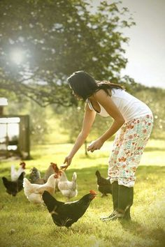 Quiet life on the farm. and Chickens! Country Farm, Country Life, Country Girls, Country Living, Country Roads, Future Farms, Chickens And Roosters, Bantam Chickens, Farms Living