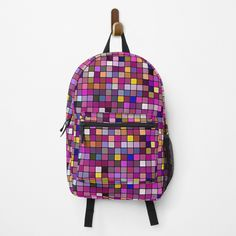 Color Pixels Backpack by Scar Design. Shop yours at my #redbubble store $51.50. #backpacks   #backpack #bags #fashion #bag #backpacker #travel #school #gym #campus   #college #backtoschool #weekendbackpack #travelbackpack Best Gifts For Men, Cool Gifts, Travel Backpack, Backpack Bags, Design Shop, Print Design, Abstract Digital Art, Designer Backpacks, All Things Cute