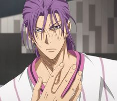 Murasakibara levels up to a 10 the minute he ties his hair back ;)