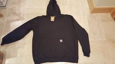 NWT Carhartt® MW Original Fit  Pullover Hoodie Hooded Sweatshirt-Black-XL X-LG #Carhartt #Hoodie