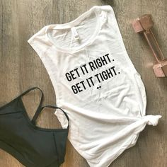 Get It Right Get It Tight Workout Tank Funny Workout Tank Womens Workout Tank Fitness Tank Gym Tank Workout Motivation Muscle Sweat Funny Workout Tanks, Funny Tanks, Workout Humor, Workout Motivation, Funny Exercise, Funny Motivation, Top Funny, Funny Workout Clothes, Workout Tops