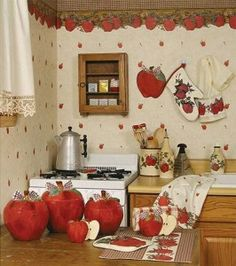 Kitchen Decoration Accessories Kitchen Decor I Like The Apple Theme That Is What I